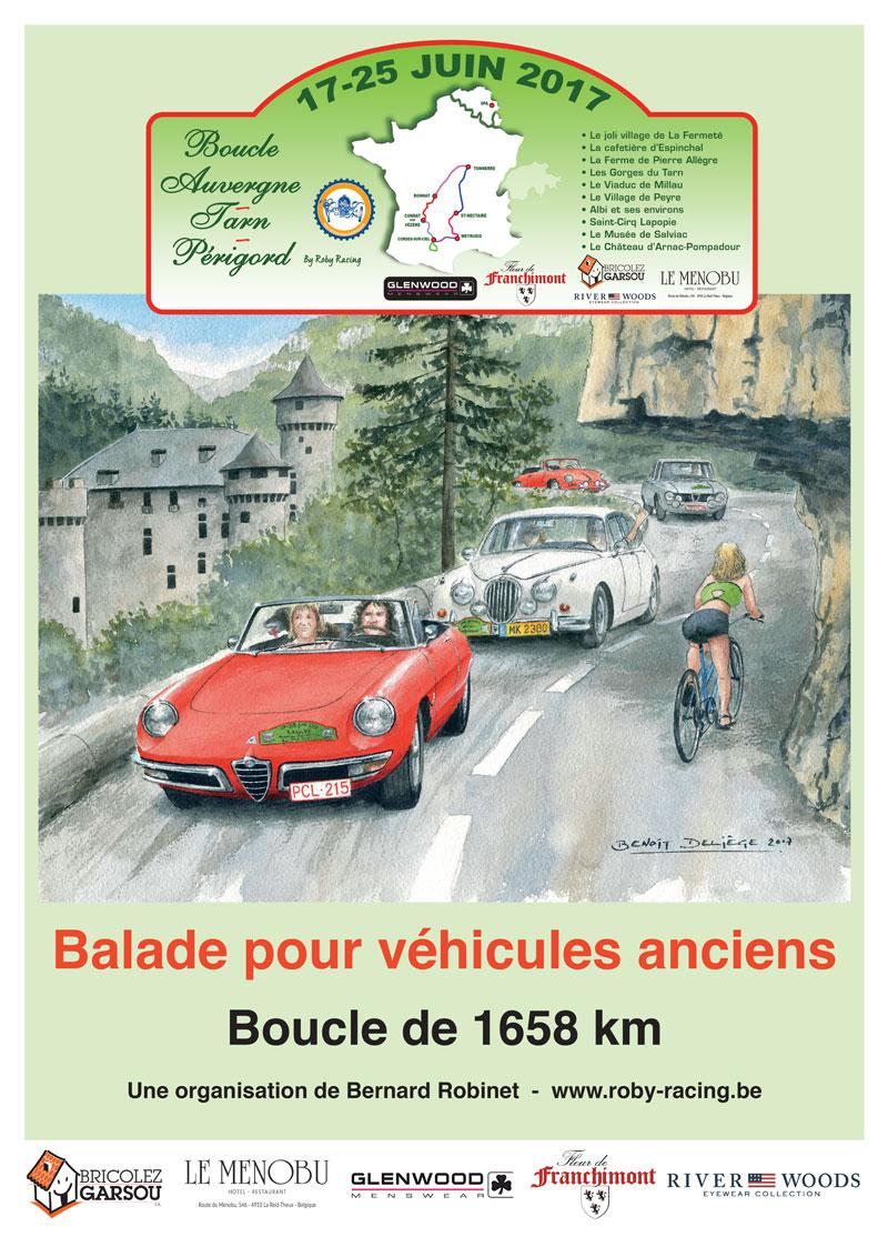 Affiche Rallye Tarn-Auvergne-Perigord 2017
